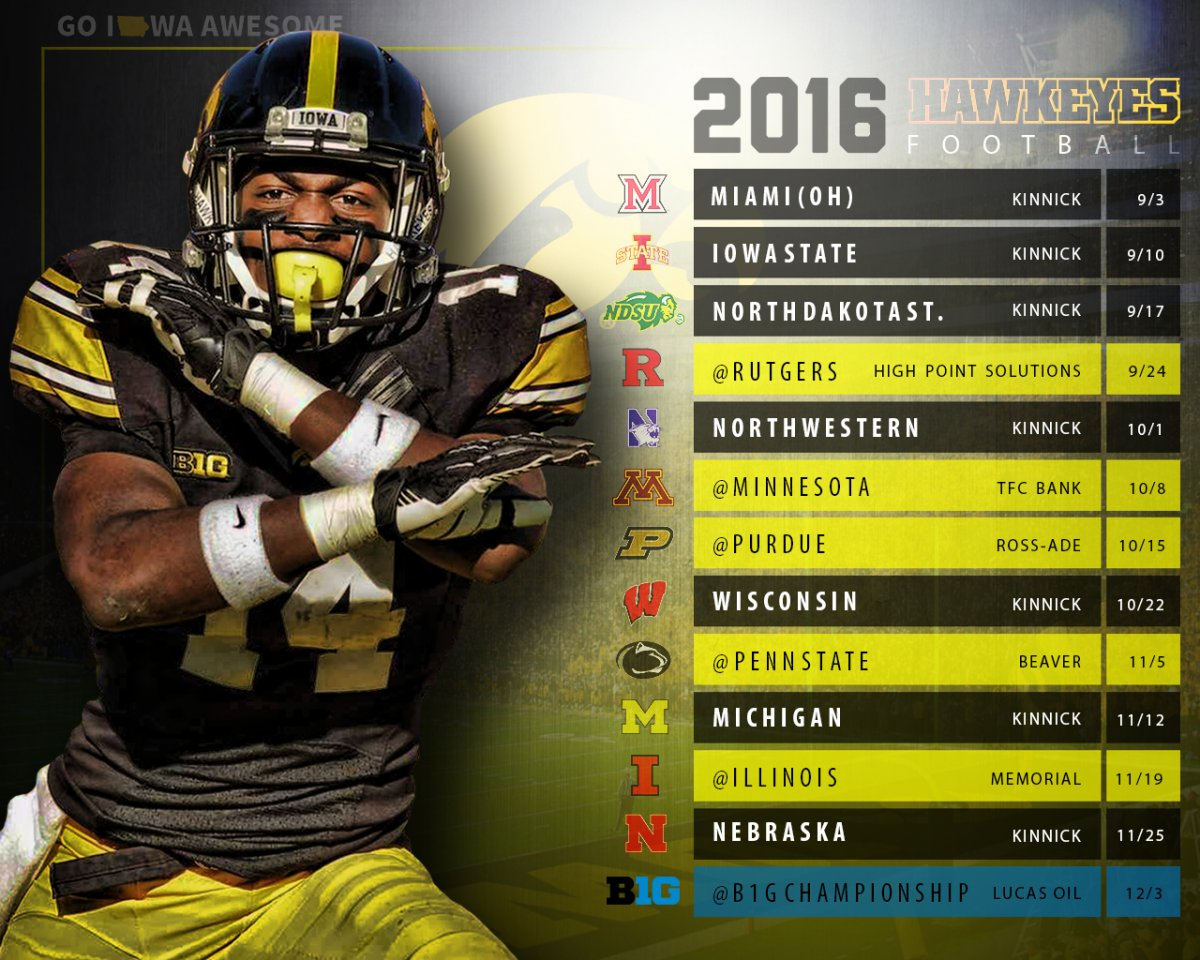 get your iowa football schedule wallpaper and posters   go iowa awesome