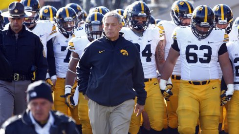 Kirk Ferentz and the Iowa football team prepare to take the field.