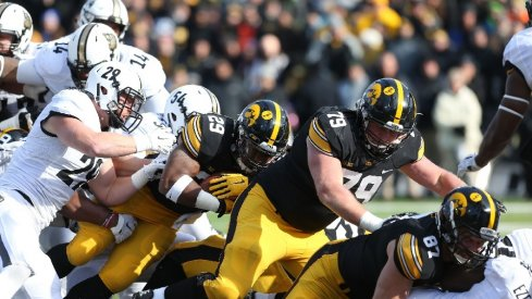The Iowa offensive line does work.