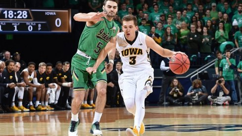 A nice performance from Iowa's youngsters wasn't enough to overcome Notre Dame's quartet of scorers.