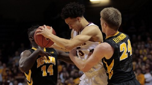 Thanks to some help from the men in stripes, Iowa came up short in a hard-fought game on the road.