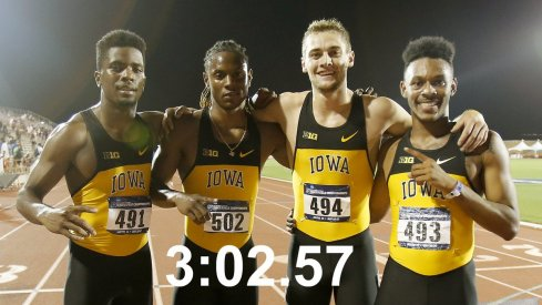 Iowa 4x400 school record-breakers