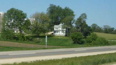 A farmhouse near Dyersville, Iowa