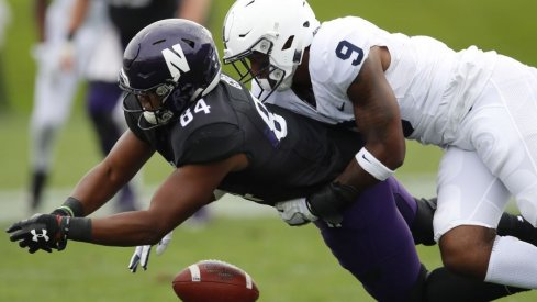 In a shocking turn of events, a Northwestern football player fails to make a catch