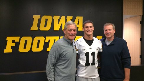 Blair Brooks with a couple of guys who have been around Iowa football for a long, long time.