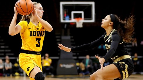 Makenzie Meyer led Iowa with a career high 21 points