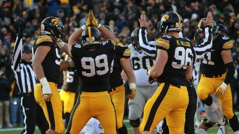 The safety dance was one of the only moments of football happiness for Iowa on Saturday.