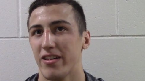 Michael Kemerer talks about his wins at the Iowa City Duals.
