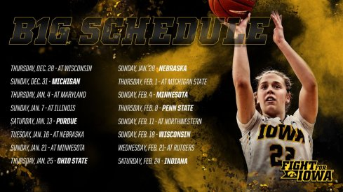 Iowa has the easiest conference schedule in the Big Ten on Paper