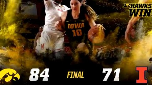 Megan Gustafson's 34 points and 12 rebounds led Iowa over Illinois