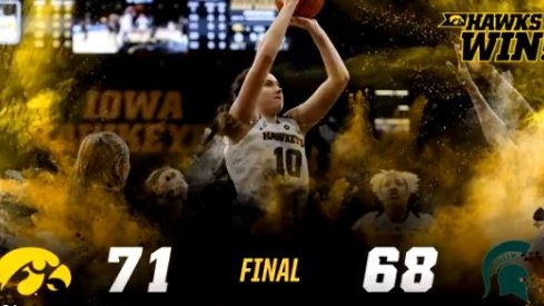 Iowa pulled out a close 71-68 victory in overtime on the road at Michigan State