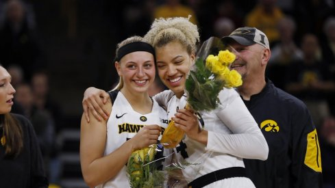 Iowa sent Chase Coley and Carly Mohns out with a big victory over Indiana