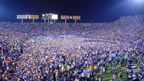 The postgame scene, 2004 Wisconsin