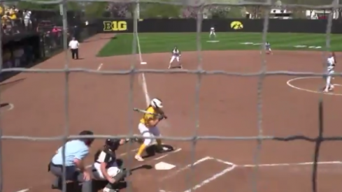 Iowa softball strikes out.