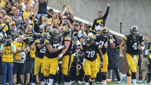 (Majority) of Iowa's offensive line.
