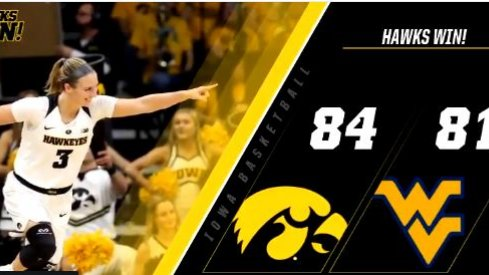 Iowa rallied from 24 down in a thrilling 84-81 victory over West Virginia