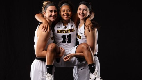 Iowa sent their three seniors off with a resounding win over Northwestern