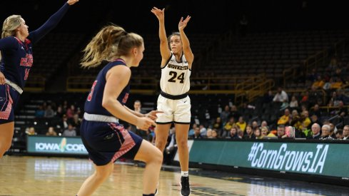 Gabbie Marshall was one of a couple Iowa freshman with a promising collegiate debut