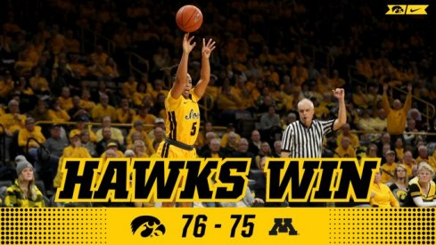 Alexis Sevillian hit a clutch three with 8 seconds left to help Iowa steal a victory from Minnesota