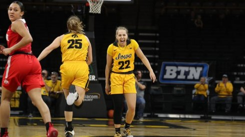 Kathleen Doyle's 13 fourth quarter points propelled Iowa over Ohio State