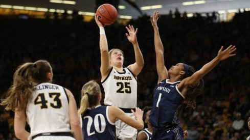Monika Czinano led Iowa with 23 points in a big victory over Penn State
