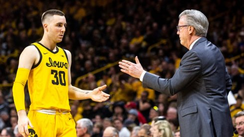 Connor McCaffery congratulated by his dad Fran, whom you might have heard of