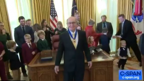 Dan Gable at the White House