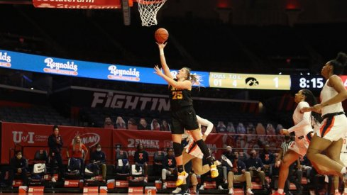 Iowa scored early and often in a 107-68 route of Illinois