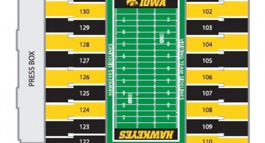 Seating Chart Colors For The Black and Gold Spirit Game | Go Iowa ...