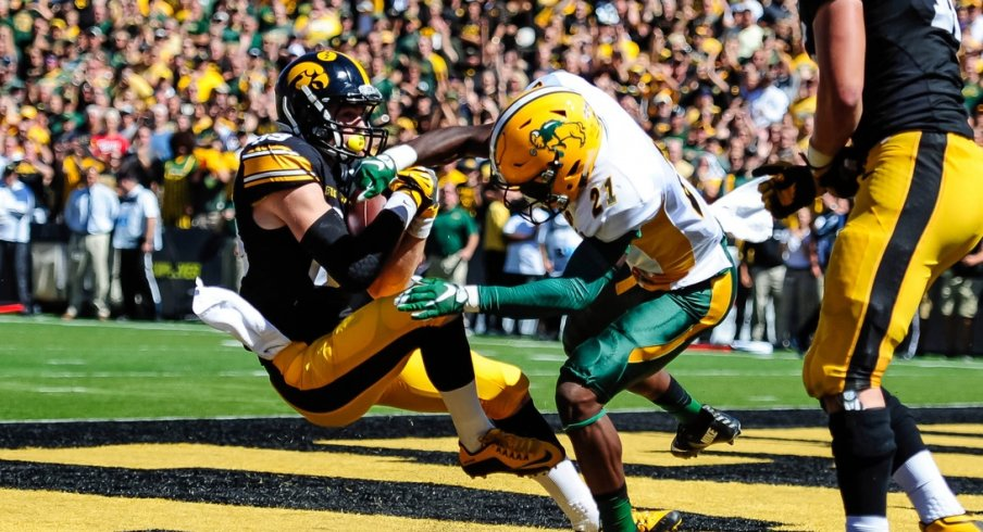 This image of what appears to be an NDSU player punching an Iowa player seemed appropriate.