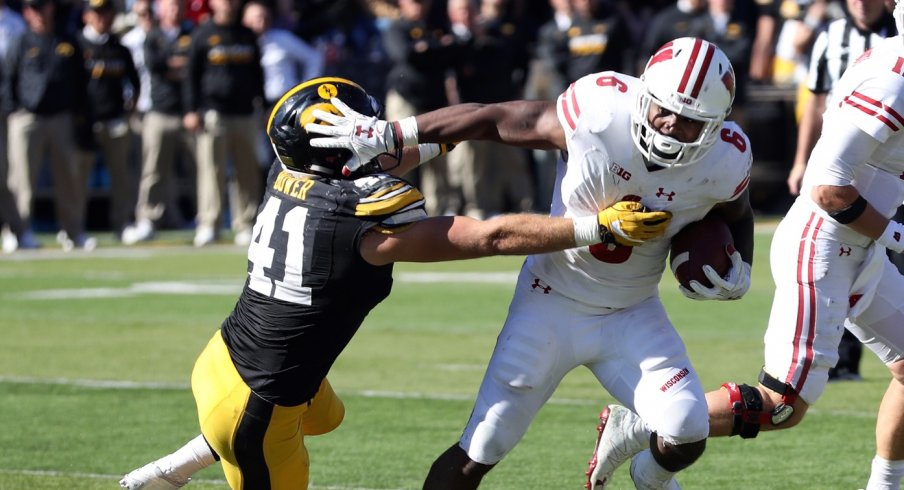 This wasn't even the worst thing Corey Clement did to Iowa's linebackers.