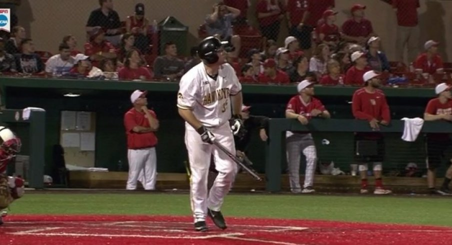 Jake Adams and his boomstick may be heading for the minor leagues soon.