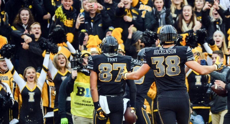 Noah Fant and TJ Hockenson know the party is on in Iowa City.