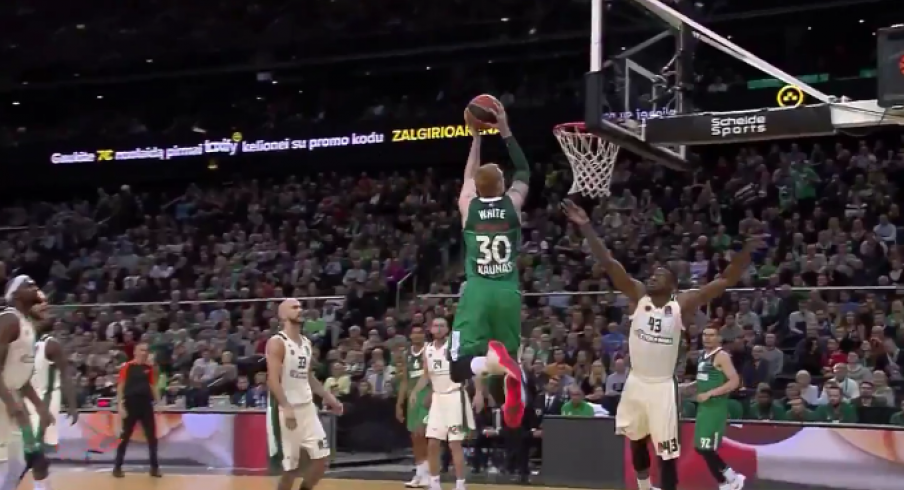 Aaron White takes flight in Europe.