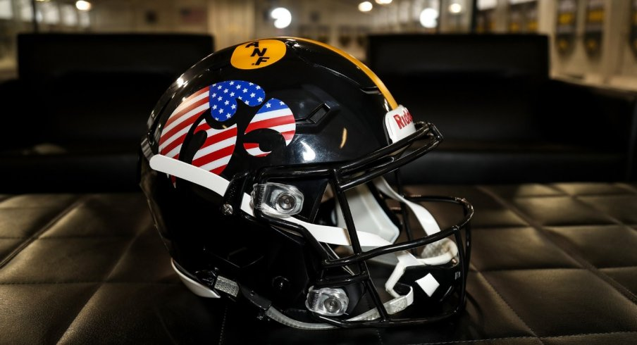 Iowa's flag helmet.