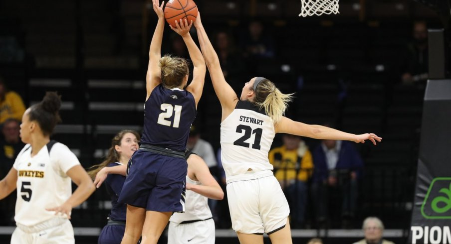 Iowa Coasted to an easy victory in their opener against Oral Roberts
