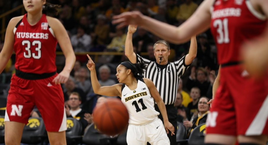 Iowa earned their first Big Ten victory of the year with a 77-71 win over Nebraska