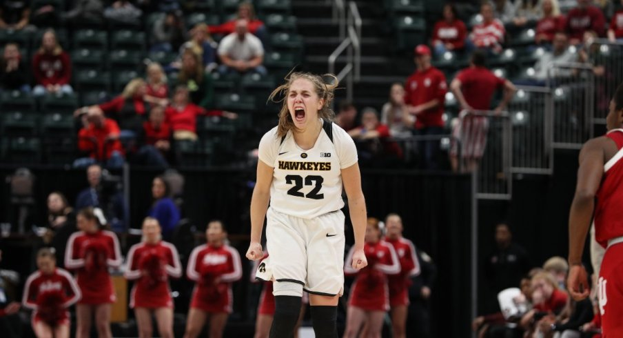 Kathleen Doyle came up with several huge plays in Iowa's win over Indiana