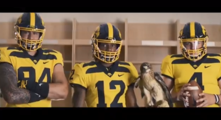 newest 29ce8 3c3ed Iowa Football Unveils New Gold Alternate Uniforms | Go Iowa ...