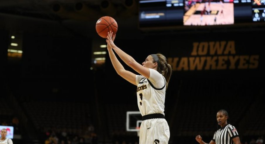 Makenzie Meyer was Iowa's leading scorer in a route of North Carolina Central
