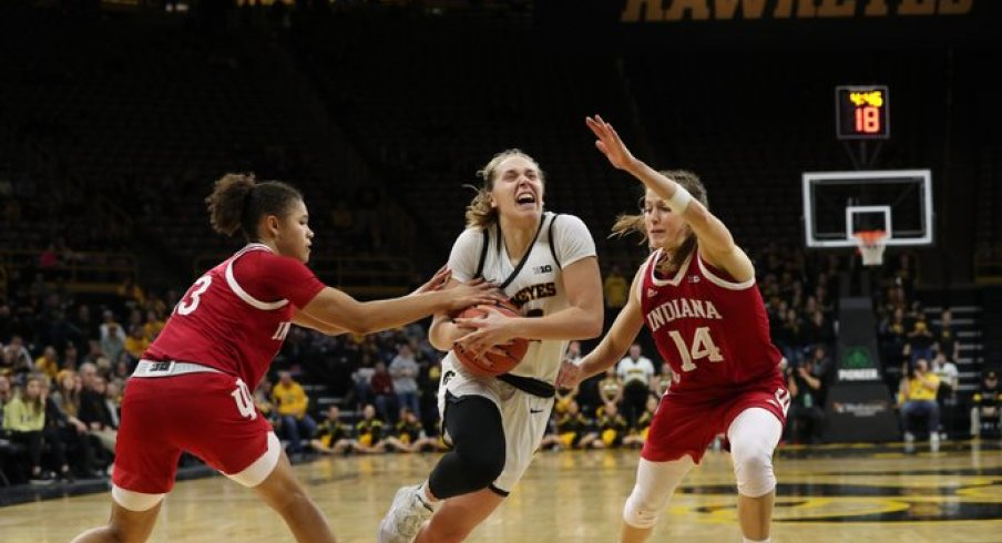 Kathleen Doyle had 31 points, 10 assists, and 9 rebounds in Iowa's victory over #12 Indiana