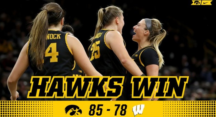 Iowa came back from down 17 to win on the road at Wisconsin