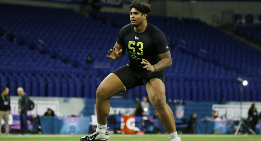 Wirfs at the Combine