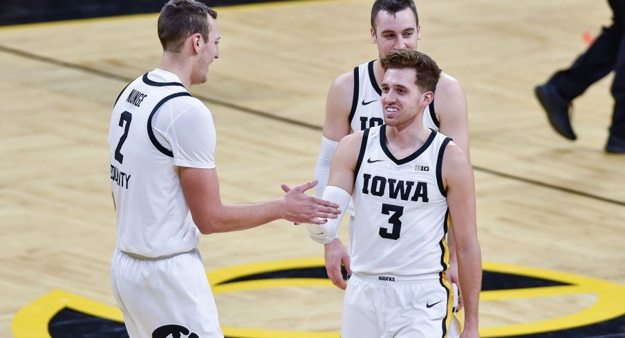 Jack Nunge and Jordan Bohannon are smiling and happy