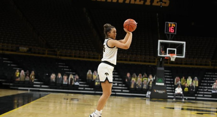 Gabbie Marshall played her best game of the season in Iowa's win over Wisconsin