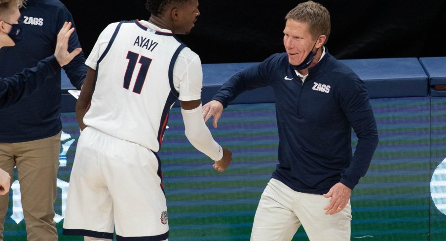Mark Few, not really into the mask thing