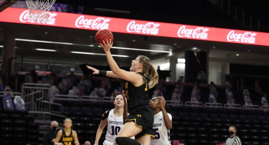Monika Czinano scored a career high 28 points, but it wasn't enough to defeat Northwestern