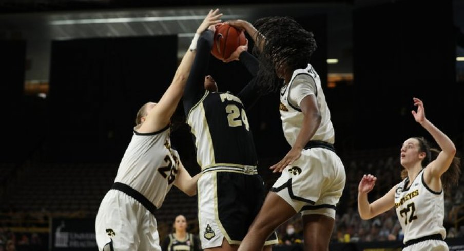 Tomi Taiwo's defense helped propel Iowa to victory over Purdue