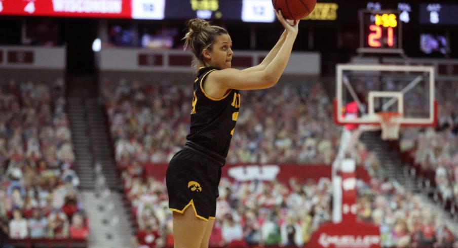 Gabbie Marshall led Iowa with 19 points on 5-6 shoot from three in Iowa's win over Wisconsin