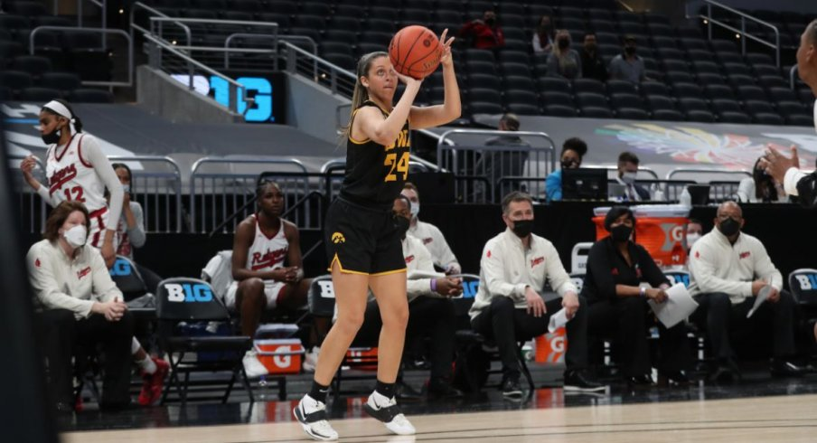 Gabbie Marshall had a career high 27 points to lead Iowa to a win over Rutgers